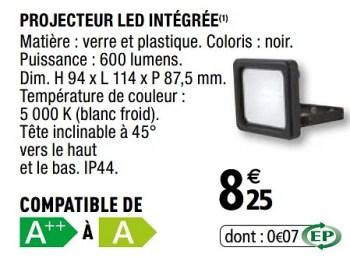Promotion Brico Depot Projecteur Led Integree Produit Maison Brico Depot Eclairage Valide Jusqua 4 Promobutler