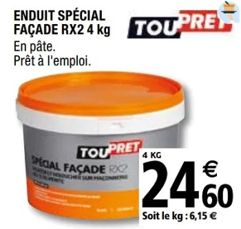Promotion Brico Depot Enduit Special Facade Rx2 Toupret Bricolage Valide Jusqua 4 Promobutler