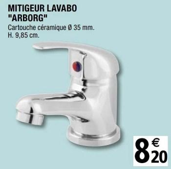 mitigeur lavabo arborg