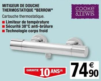 mitigeur de douche thermostatique berrow
