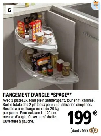 rangement d angle space