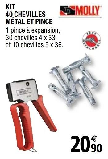 Promotion Brico Depot Kit 40 Chevilles Metal Et Pince Produit Maison Brico Depot Bricolage Valide Jusqua 4 Promobutler