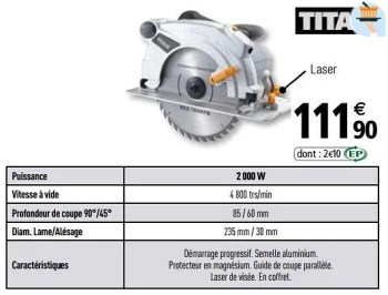 Promotion Brico Depot Titan Scies Circulaires Titan Bricolage Valide Jusqua 4 Promobutler