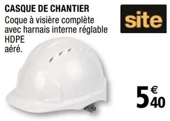Promotion Brico Depot Casque De Chantier Site Construction Renovation Valide Jusqua 4 Promobutler