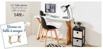 flip table pliante