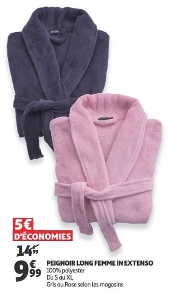 Promotion Auchan Ronq Peignoir Long Femme In Extenso Inextenso Vetements Chaussures Valide Jusqua 4 Promobutler