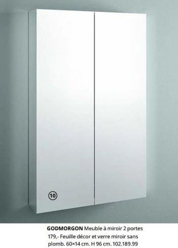 Promotion Ikea Godmorgon Meuble A Miroir 2 Portes Produit Maison Ikea Cuisine Salle De Bain Valide Jusqua 4 Promobutler