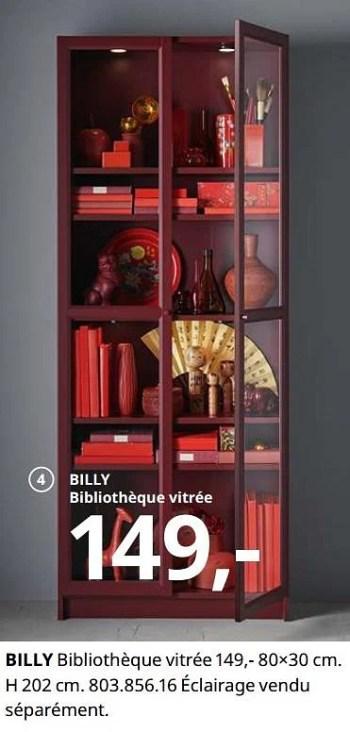 billy bibliotheque vitree