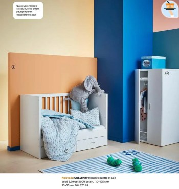 gulsparv housse couette et taie bebe