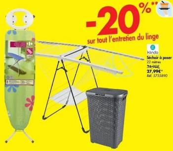 Promotion Carrefour Sechoir A Poser Klindo Menage Valide Jusqua 4 Promobutler