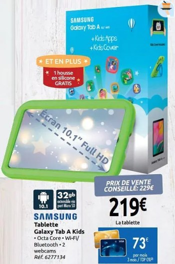 samsung tablette galaxy tab a kids