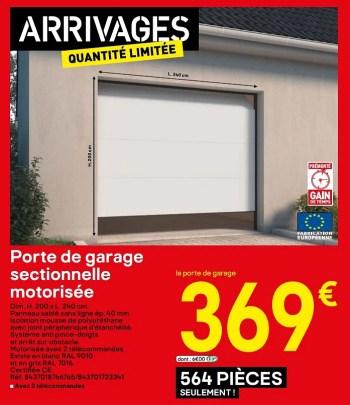 Porte De Garage Sectionnelle Brico Depot Elle Convient A Tous Les Garages Petits Comme Grands