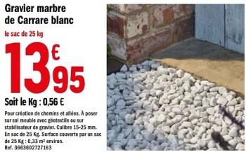 Promotion Brico Depot Gravier Marbre De Carrare Blanc Produit Maison Brico Depot Jardin Et Fleurs Valide Jusqua 4 Promobutler