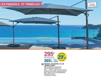 https www promobutler be fr e leclerc promotions promotion beaux jours chez e leclerc parasol excentre 4x4 m beaux jours parasol meubles de jardin id 7268381