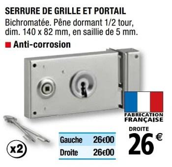 Promotion Brico Depot Serrure De Grille Et Portail Produit Maison Brico Depot Bricolage Valide Jusqua 4 Promobutler