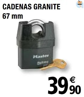 Promotion Brico Depot Cadenas Granite Master Lock Bricolage Valide Jusqua 4 Promobutler