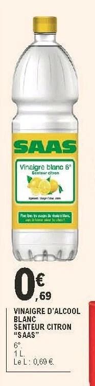 vinaigre d alcool blanc senteur citron saas