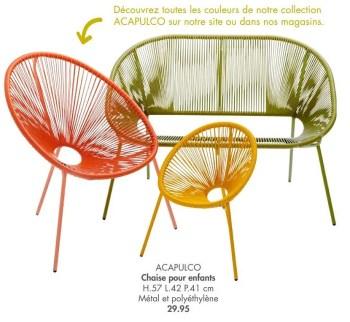 acapulco chaise pour enfants