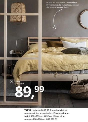 tarva cadre de lit