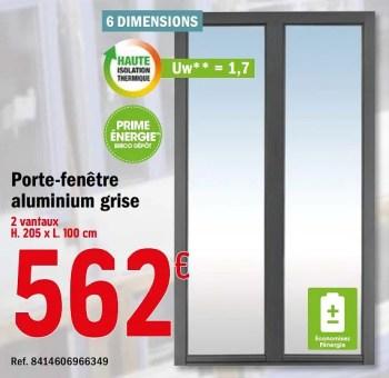 Promotion Brico Depot Porte Fenetre Aluminium Grise Produit Maison Brico Depot Construction Renovation Valide Jusqua 4 Promobutler