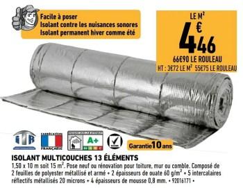 Promotion Brico Cash Isolant Ecotherm 13 Elements Itr Construction Renovation Valide Jusqua 4 Promobutler