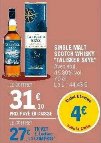 single malt scotch whisky talisker skye