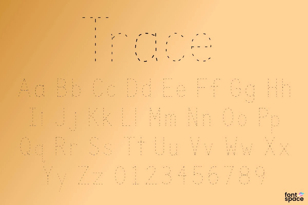 Trace Font
