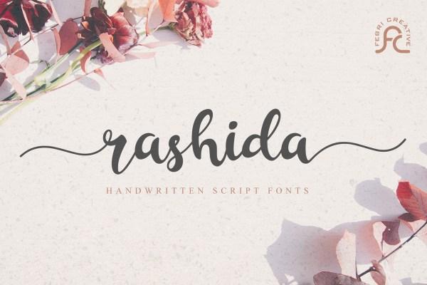 Rashida Script Font | Febri_Creative | FontSpace