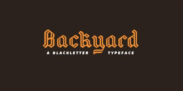 Backyard Font | Måns Grebäck | FontSpace