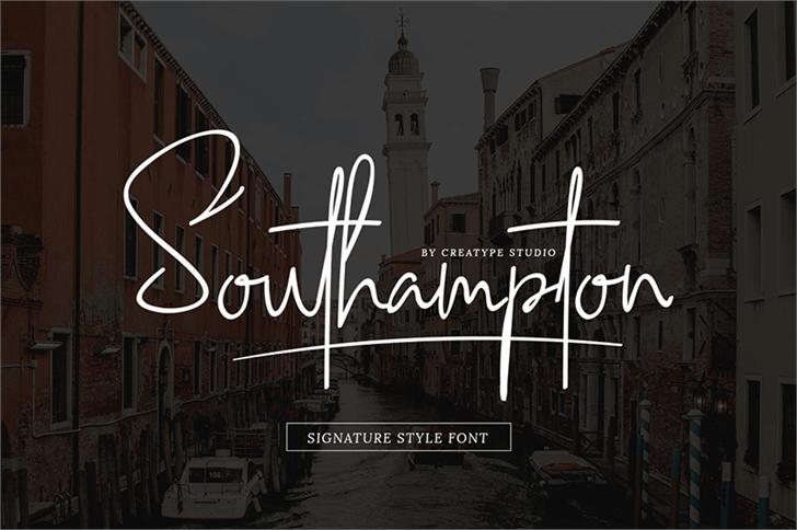 Imagem para Southampton font