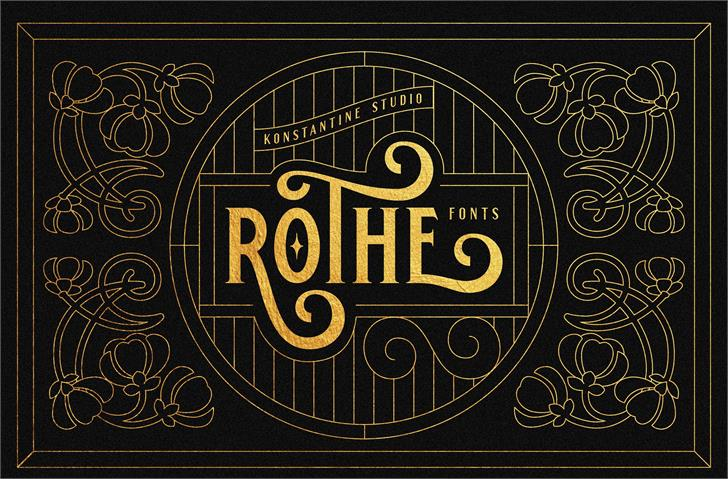 Image for ROTHE DEMO font