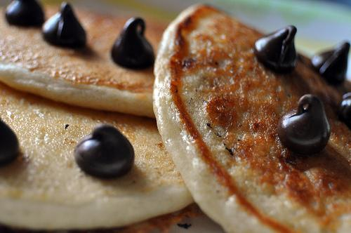 5 Minute Vegan Pancakes. Photo by TheRainbowVegan