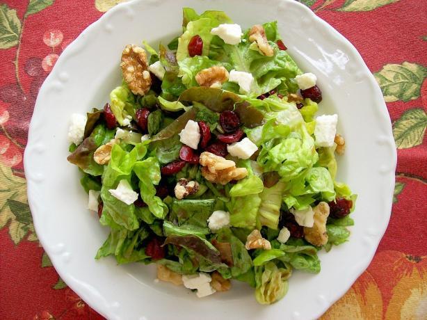 Cranberry, Feta and Walnut Salad. Photo by manrat