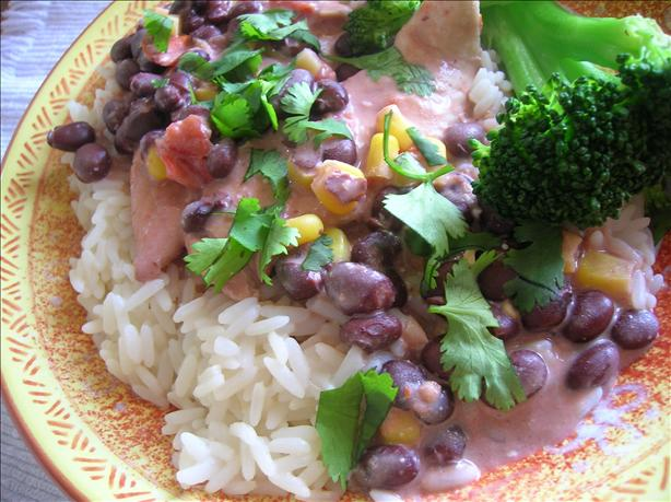 Crock-Pot Chicken With Black Beans & Cream Cheese...yum!. Photo by Pam-I-Am