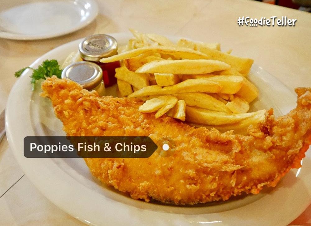 英國|倫敦美食|炸魚薯條經典英國菜 Poppies Fish and Chips!超過半世紀的老店! - 波妮說食話
