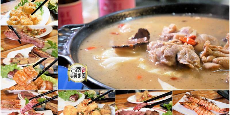 【台南-東區美食】湯滾冒泡的燒酒雞鍋物,是冬天必吃的熱呼湯品啦(๑♜ڡ♜๑)~串燒炭烤︱鍋物料理︱快炒小酌,攏底『府城騷烤家』喔!