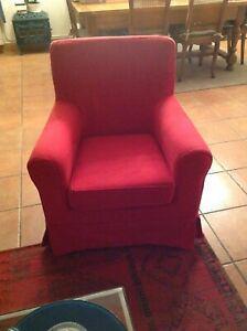 fauteuil ikea ektorp jennylund rouge en