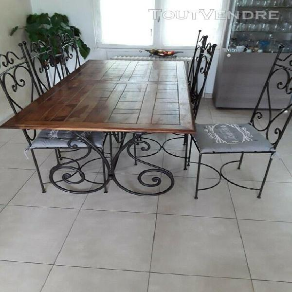 table salle fer forge offres mars