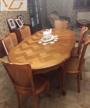 table style regence merisier offres