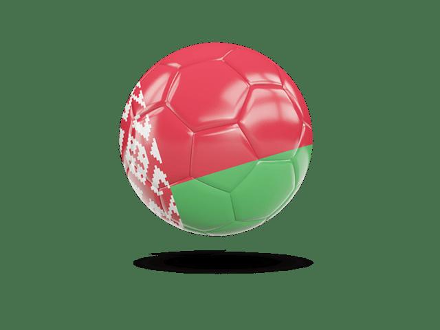 Glossy Soccer Ball. Illustration Of Flag Of Belarus