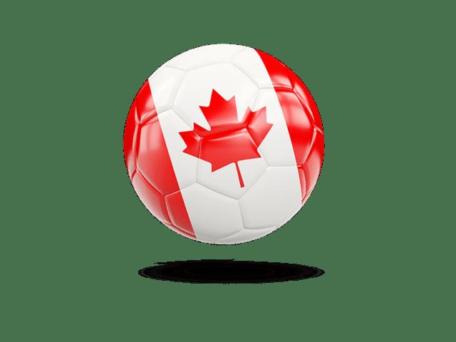 Glossy Soccer Ball. Illustration Of Flag Of Canada