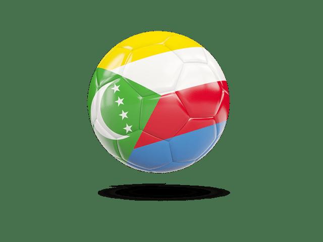Glossy Soccer Ball. Illustration Of Flag Of Comoros