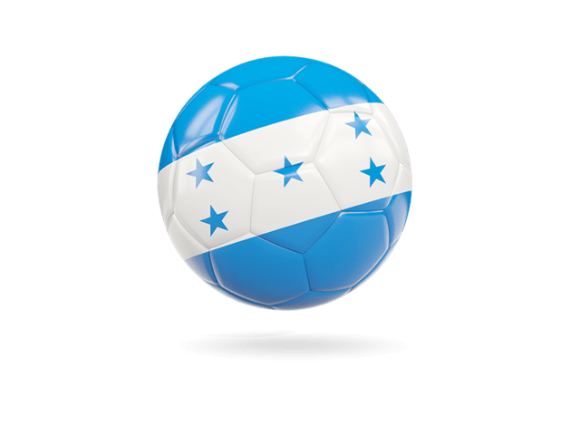 Glossy Soccer Ball. Illustration Of Flag Of Honduras