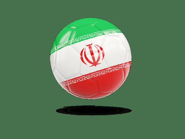 Glossy Soccer Ball. Illustration Of Flag Of Iran
