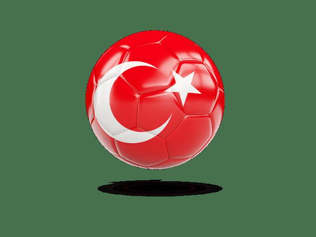 Glossy Soccer Ball. Illustration Of Flag Of Turkey