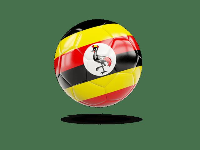 Glossy Soccer Ball. Illustration Of Flag Of Uganda