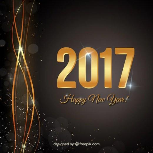 Szczęśliwego Nowego Roku czarnym tle