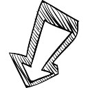 Image result for arrow down drawing