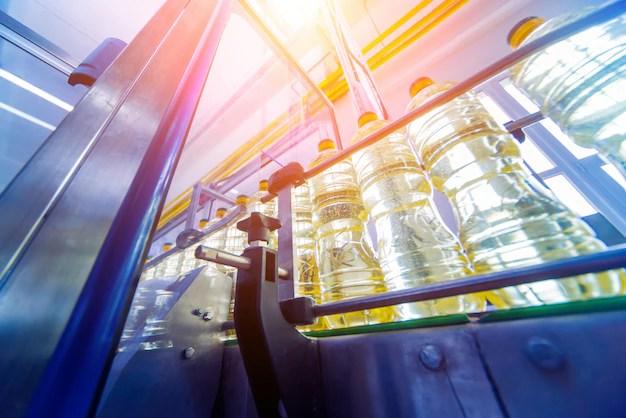 Линия розлива подсолнечного масла в бутылки. завод по ...