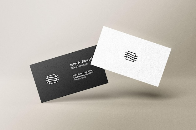 · customize your free business cards in. Business Card Mockup Freepik
